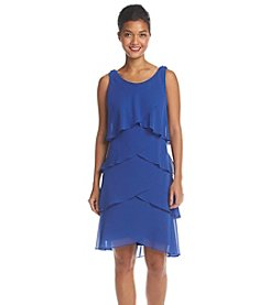 S.L. Fashions Tiered Chiffon Shutter Dress