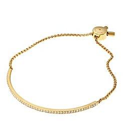 Michael Kors® Goldtone Pave Slider Bracelet