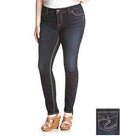 Silver Jeans Co. Plus Size Suki Skinny Leg Jeggings