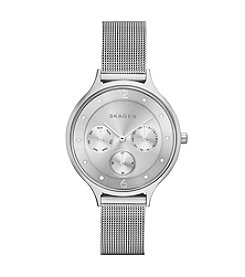 Skagen Denmark Women's Anita Multifunction Watch in Silvertone With Mesh Bracelet