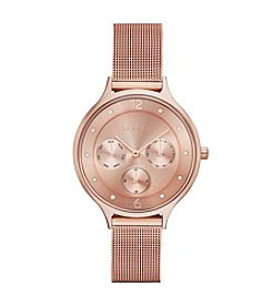Skagen Denmark Women's Anita Multifunction Watch in Rose Goldtone with Mesh Bracelet