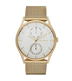 Skagen Denmark Men's Holst Watch in Goldtone with Mesh Bracelet