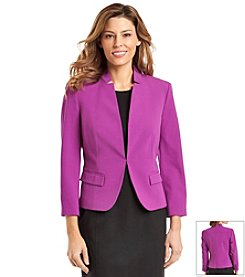 Nine West® Solid Darted Front Jacket