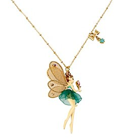 Betsey Johnson® Goldtone Fairy Pendant Necklace
