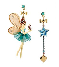 Betsey Johnson® Goldtone Fairy Mismatch Earrings