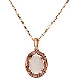 Effy® Diamond and Opal Pendant Necklace in 14K Rose Gold