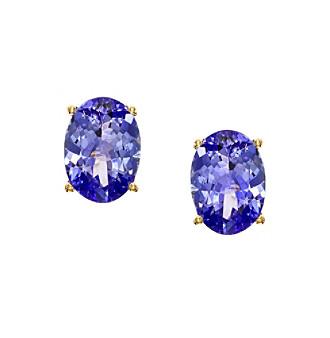 Effy® Tanzanite Royale Collection Tanzanite Earrings in 14K Yellow Gold