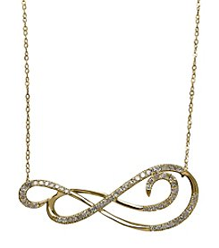0.20 ct. t.w. Diamond Swirl Necklace in 10K Yellow Gold