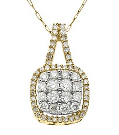 0.50 ct.t.w. Diamond Pendant Necklace in 10K Yellow Gold