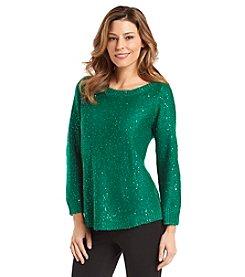 Anne Klein® Pullover Sequin Sweater