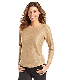 Anne Klein® Sequin Pullover Sweater