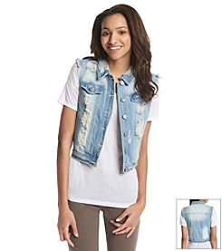 Hippie Laundry Destructed Denim Vest