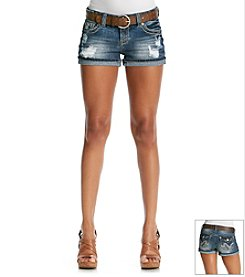 Wallflower® Belted Destructed Short