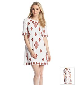 MICHAEL Michael Kors® Embroidered Floral T-Shirt Dress