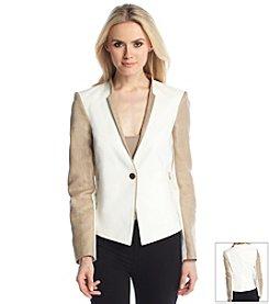 Calvin Klein Textured Contrast Sleeve Jacket