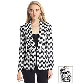 Nine West Printed Seam Jacket