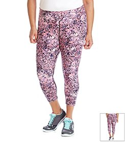 Calvin Klein Performance Plus Size Galaxy Print Running Crop