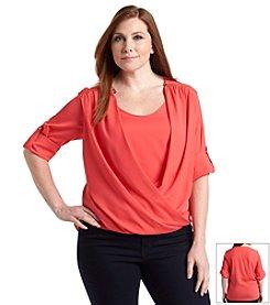 Calvin Klein Plus Size Drape Top