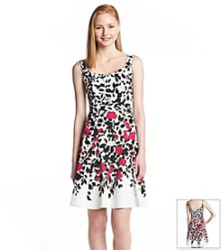 Nine West® Bloom Tank Fit And Flare Dress
