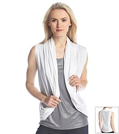 DKNY JEANS® Mesh Back Draped Cozy Vest