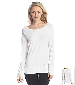Marc New York Performance Pullover with Shirred Back