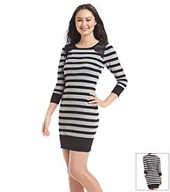 A. Byer Striped Sweater Dress