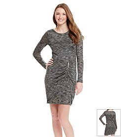 Trixxi® Zipper Sweater Dress