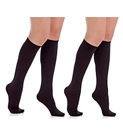 Legale® Two Pair Plush Lined Knee High Socks
