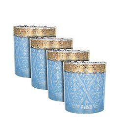 Zrike Brands Turquoise Gem Set of 4 Cocktail Glasses