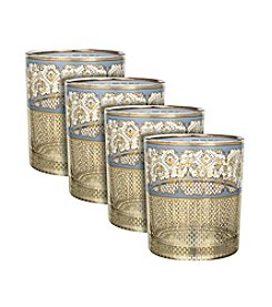 Zrike Brands London Secrets Set of 4 Rocks Glasses
