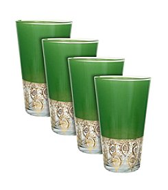 Zrike Brands Chrysalis Set of 4 Tall Glasses