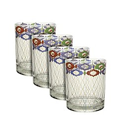 Zrike Brands Turkish Filigree Set of 4 Rocks Glasses