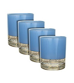 Zrike Brands Aqua Moon Set of 4 Rocks Glasses