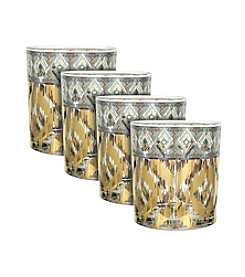 Zrike Brands Mint Twist Set of 4 Cocktail Glasses