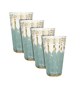 Zrike Brands Opal Rain Set of 4 Tall Glasses