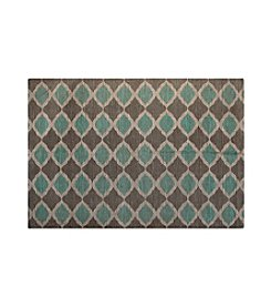Chesapeake Turquoise and Taupe Matrix Jute Rug