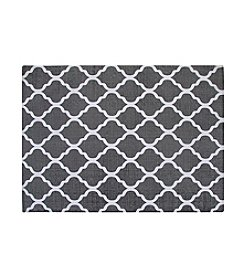 Chesapeake Grey and White Quatrefoil Rug