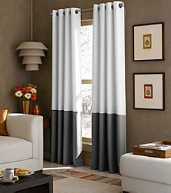 Curtainworks® Kendall Colorblock Grommet Lined Window Panel