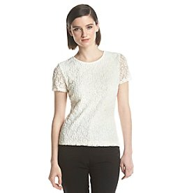 Calvin Klein Textured Short Sleeve Top