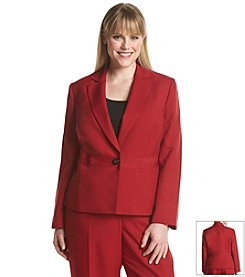 LeSuit® Plus Size One Button Jacket