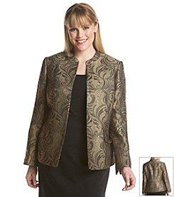 Kasper® Plus Size Jacquard Jacket