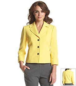 T Tahari® Three Button Ponte Jacket