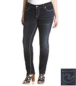 Silver Jeans Co. Plus Size Suki Mid Slim Jeans