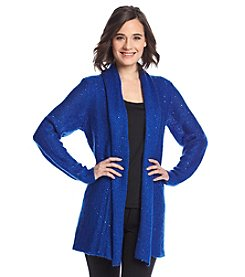 Laura Ashley® Sequin Flyaway Cardigan