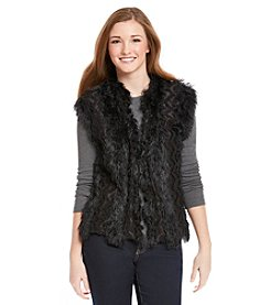 Lily White Faux Fur Vest