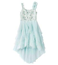 Rare Editions® Girls' 7-16 Sequin Flower Dress