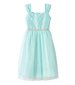 Rare Editions® Girls' 7-16 Lace Bodice Sparkle Dress