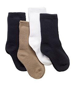 Statements Girls' 4 Pack Assorted Crew Socks