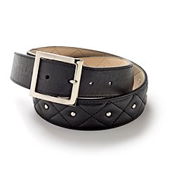 Nine West® Quilted Hardware Studded Belt