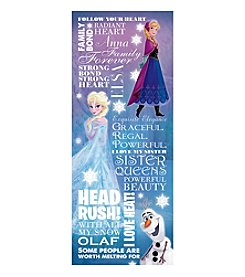 Disney® Frozen Typography Canvas Art